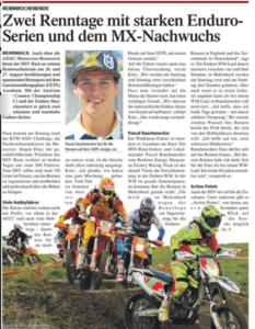 Titelseite in der Volkszeitung Tips Bezirk Ried im Innkreis